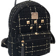Black Gold Stud Canvas Backpack