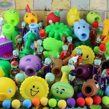 2017 new 19 style popular game PVZ Plants vs. Zombies PVC action figure model toy 10cm plant zombies toys gift toys for children
