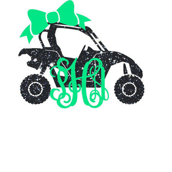 Side By Side Monogram Decal | ATV Decal | Yeti Monogram | Southern | ATV | Mud Riding | Custom | Jeep Decal | Car Decal | 4X4