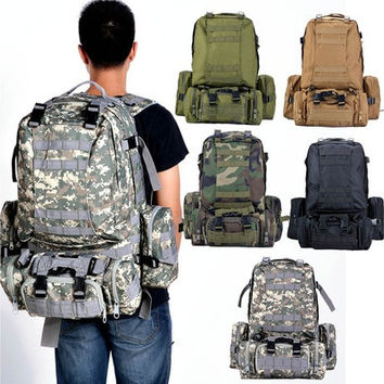 "3D Outdoor Military Tactical Rucksack Backpack Camping Hiking Trekking Bag 21.7"" l_l [10198329095]"