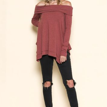 Women's Off the Shoulder Tunic Top