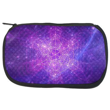 Sacred Geometry Metatron Cube Map of Creation Makeup Bag