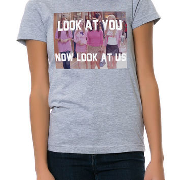 The Look At You Now Look At Us Tee in Heather Gray