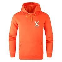 LV 2019 new letter printing men and women models wild casual hooded sweater