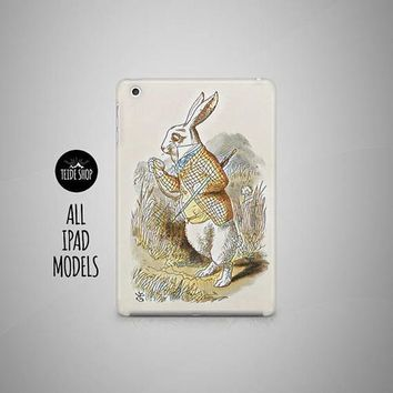 Alice In Wonderland iPad Air 2 Case White Rabbit