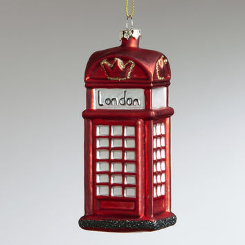 London Phone  Booth Ornament - World Market