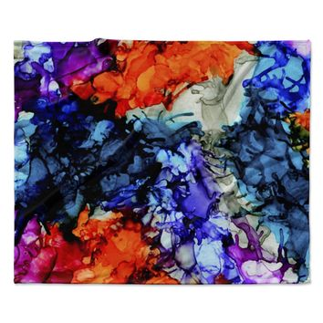 "Claire Day ""Evanescence"" Blue Rainbow Fleece Throw Blanket"