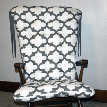 Custom Fynn Quatrefoil Rocking Chair Cushions, Rocking Chair Pads