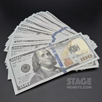 50x $100 Bills - $5,000 - New Style Prop Money