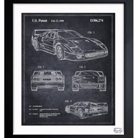 Oliver Gal, Ferrari F40, 1990, Acrylic / Lucite, Drawings