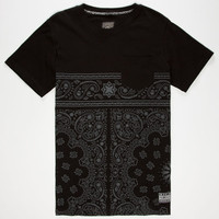 Famous Stars & Straps Unstuck Mens Pocket Tee Black  In Sizes