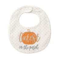 Cutest Pumpkin Applique Baby Bib