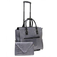 "Cabrelli Women's 15.6"" Rolling Laptop Bag with Removable Clutch - Laptop Bags"