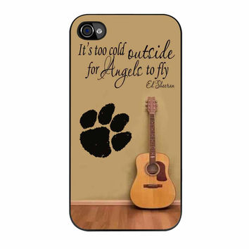 Ed Sheeran Guitar And Song Quotes iPhone 4s Case