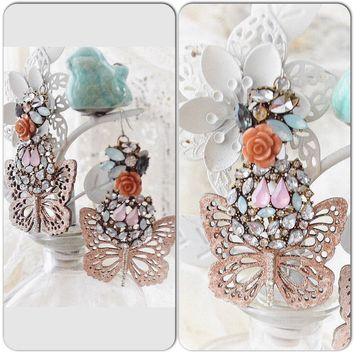 Butterfly fairy earrings, whimsical gypsy jewelry, True Rebel Clothing