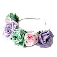Crown and Glory Hair Accessories — Whole Lotta Rosie Headband - Icecream