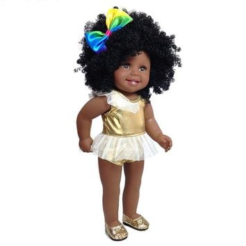 Full Vinyl Silicone Afro Princess Doll