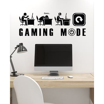 Vinyl Wall Decal Gaming Mode Gamer Lifestyle Funny Art Video Games Stickers Mural (ig6187)