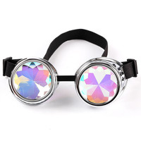 2016 Fashion Colourful Lenses Goggles Glasses  Men Women Welding Goggles Gothic Steampunk Windproof Mirror Vintage Gothic