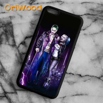 OriWood Suicide Squad Harley Quinn Joker new Case cover For iPhone 6 6S 7 8 Plus X 5 5S Samsung galaxy S6 S7 edge S8 Plus Note 8