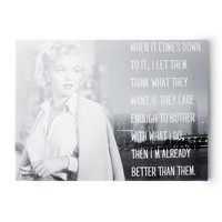 Marilyn Monroe Let Them Think What They Want Wall Canvas | Icing