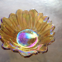 Iridescent Bowl, Fenton Carnival Bowl, Fenton Golden Bowl, Iridescent Glass Dish, Fenton Candy Bowl, Iridescent Candy Dish, Color Shifting
