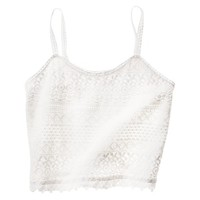 Mossimo Supply Co. Junior's Cropped Lace Tank