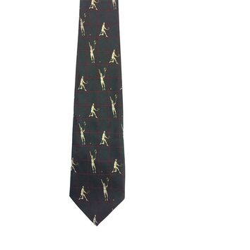 Alto Foulard Wide Silk Tie - Dark Green