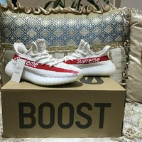 Aidas YEEZY BOOST 350 V2 Supreme White/Red Size 36-46