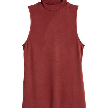 Sleeveless Turtleneck Top - from H&M
