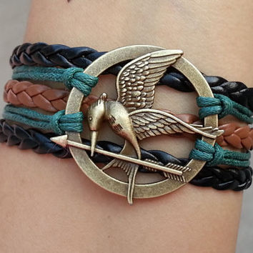 hunger games bracelet,Mockingjay the Hunger games Inspired Charm Bracelet