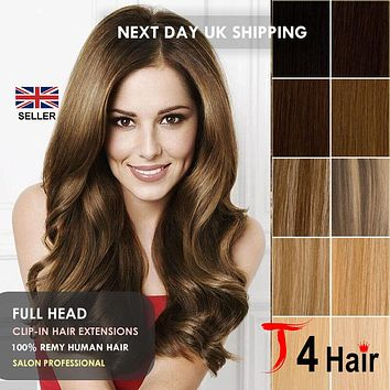 Thick Deluxe & Standard Clip In Remy, 100% Real Human Hair Extensions, Full Head