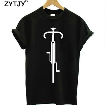 BIKE LINES CYCLING Print Women tshirt Casual Cotton Hipster Funny t shirt For Girl Top Tee Tumblr Drop Ship BA-92