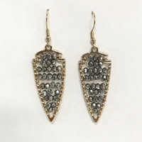 Tryst Dagger Bead Earrings in Grey