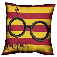 Harry Potter Glasses and Lightning Bolt Woven Tapestry Pillow |