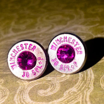 Hot Pink Bullet Earrings