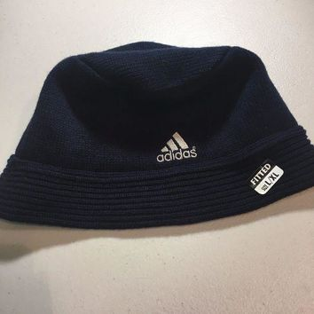 ESBONC. BRAND NEW ADIDAS NAVY LARGE/XLARGE KNIT HAT SHIPPING