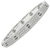 Cartier Love Bracelet in 18 Karat White Gold with Diamonds
