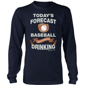 T-shirt – Canvas Long Sleeve – Baseball With A Chance Of Drinking