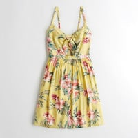 Girls Cutout Tie-Front Dress | Girls New Arrivals | HollisterCo.com