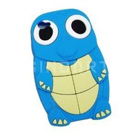 Turtle Designs Silicone Case for Apple iPhone 4 4S Blue