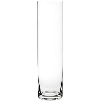 "Clear Glass Cylinder Floor Vase - 24"" Tall x 6"" Wide"