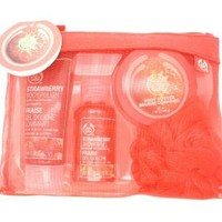 The Body Shop Shower Scrub and Moisture Set, Strawberry