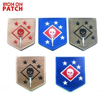 USMC/ the United States Marine Corps commando /MARINE RAIDERS Patches embroidery badge the tactical military HOOK/LOOP clothes