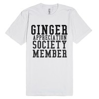 Ginger Appreciation Society Member-Unisex White T-Shirt