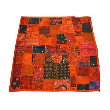 Mogul Indian Tapestry Handmade Sequins Moti Patchwork Wall Hanging Home Décor - Walmart.com