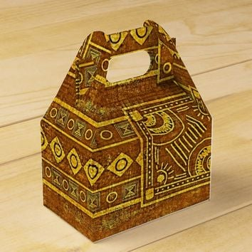 Ancient African Vintage Pattern Favor Box