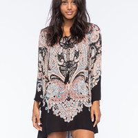 ANGIE Paisley Bell Sleeve Dress | Pretty Peasant