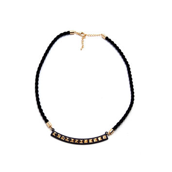 Military Necklace - Black/Gold