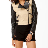 Duo-Toned Moto Jacket